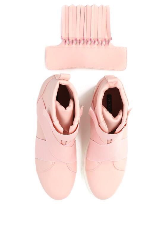 Różowe Sneakersy Maritta