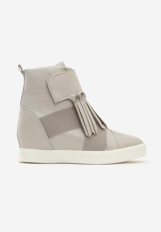 Szare Sneakersy Maritta