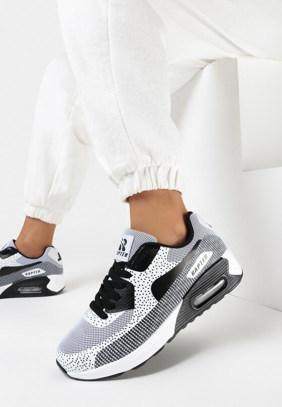 Czarno-Białe Sneakersy Candy