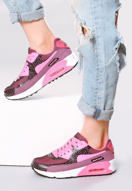 Różowe Neonowe Buty Sportowe Candy