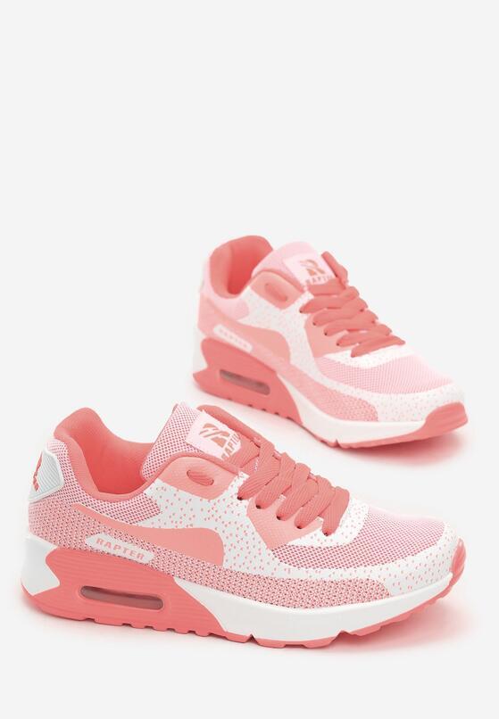 Białe Neonowe Buty Sportowe Candy