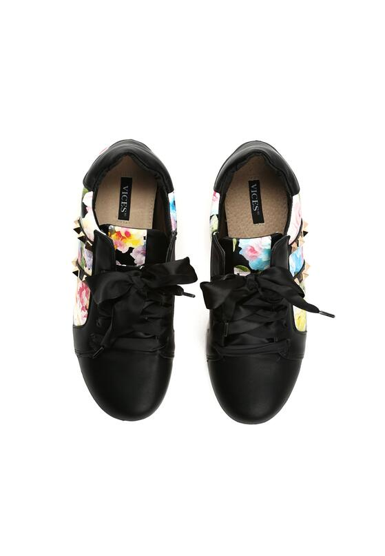 Czarne Buty Sportowe Rock Flower