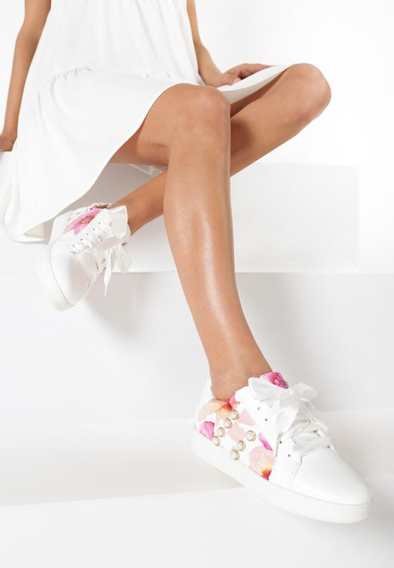 Białe Buty Sportowe Burble