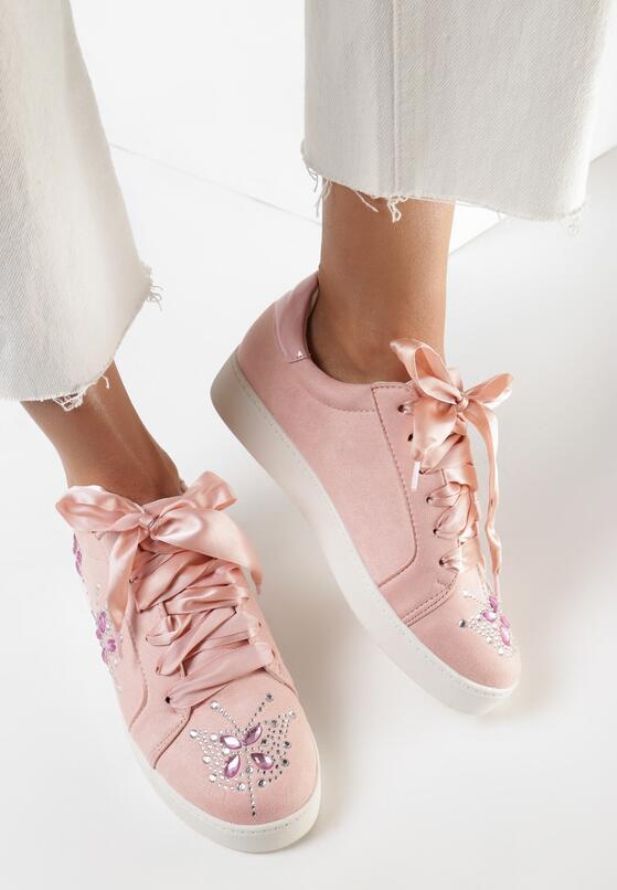 Różowe Buty Sportowe Sateen