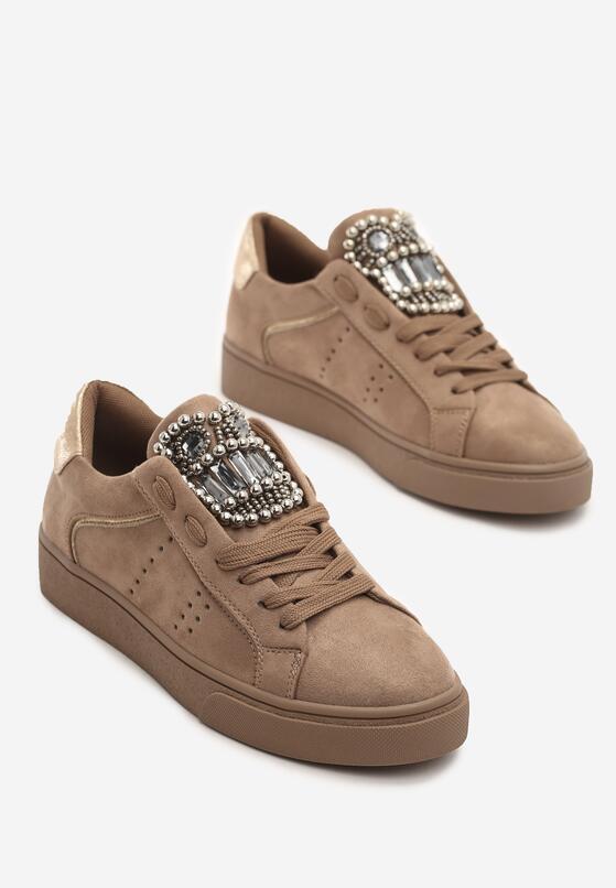Beżowe Buty Sportowe Rebellious