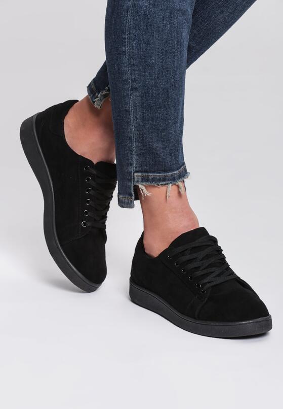 Czarne Buty Sportowe Innovative