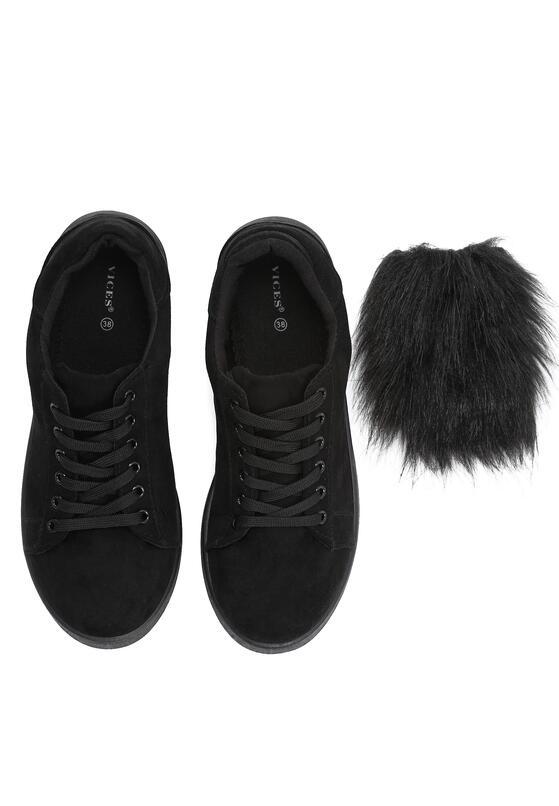 Czarne Buty Sportowe Mr Hairy