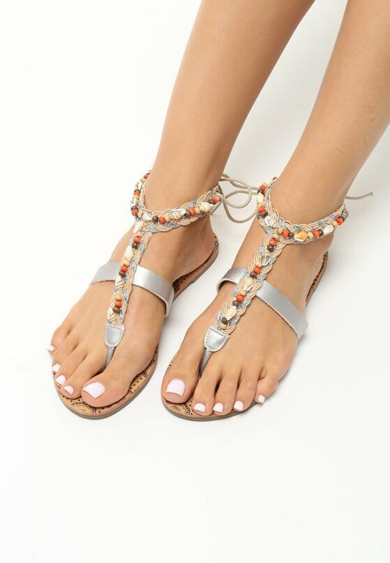 Srebrne Sandały Affectionate