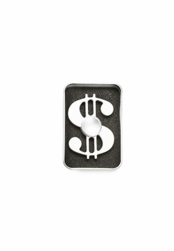 Srebrny Fidget Spinner Dollar