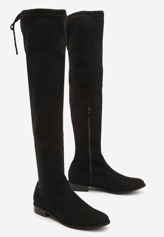 Czarne Zamszowe Kozaki Lady In Grey