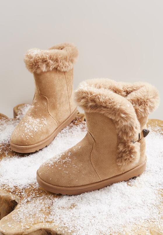 Beżowe Śniegowce Nit-Pick