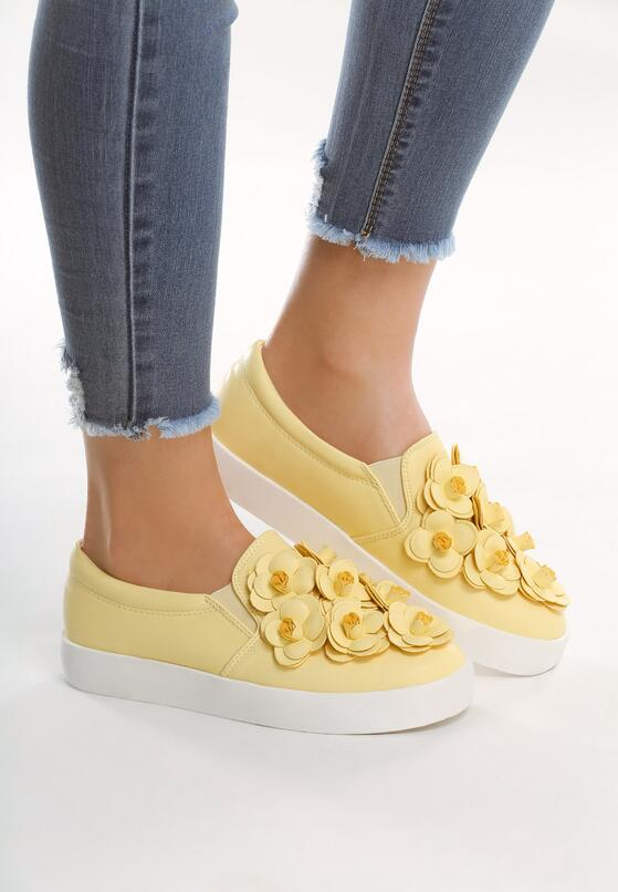 Żółte Slip On Flower Show