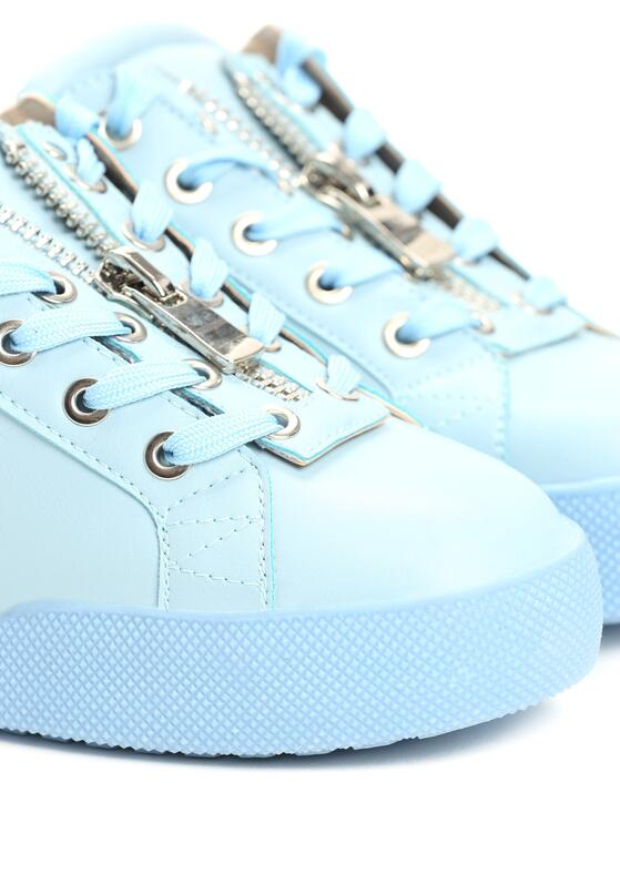 Niebieskie Buty Sportowe Zip-On