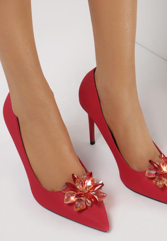 Czerwone Szpilki Lily-White