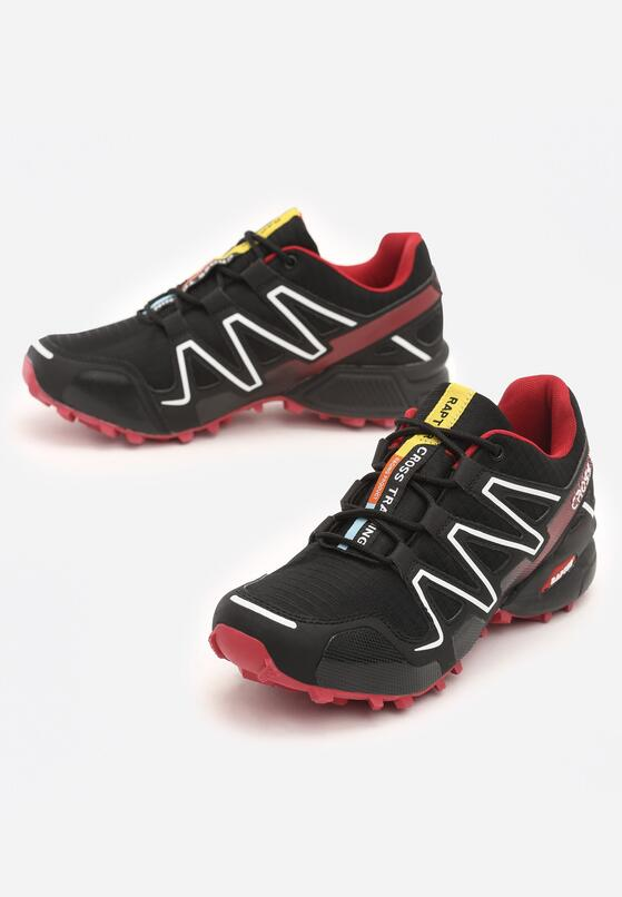 Czarno-Czerwone Buty Sportowe Hidden Track