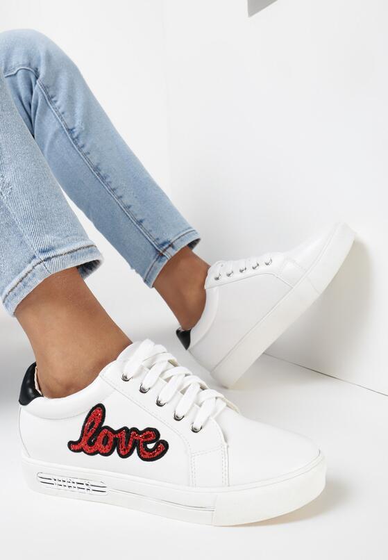 Biało-Czerwone Buty Sportowe In Love