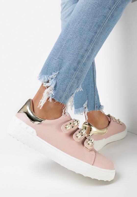 Różowe Buty Sportowe No Alibi