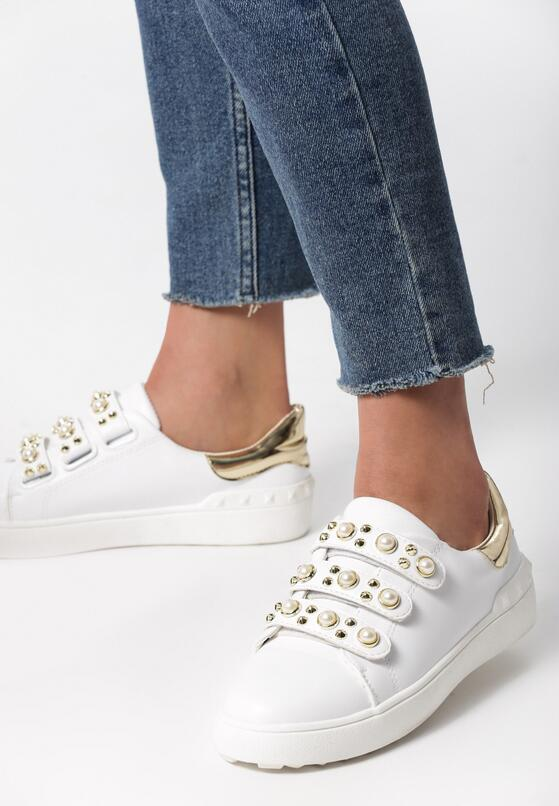 Biało-Złote Buty Sportowe No Alibi