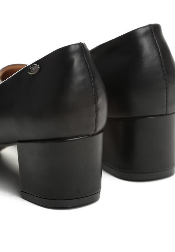 Czarne Czółenka Pastiche Style