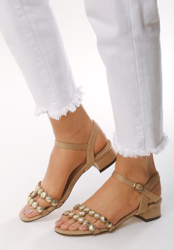 Beżowe Sandały Inquisitive Nature