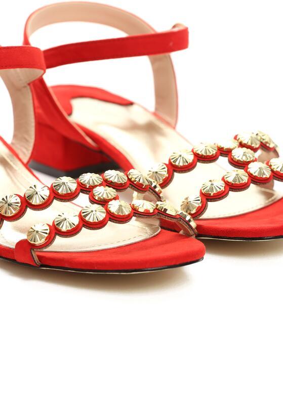 Czerwone Sandały Inquisitive Nature