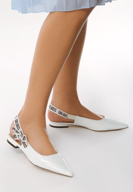 Białe Sandały Office Queen
