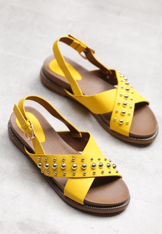 Żółte Sandały Comet