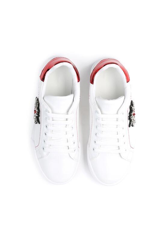 Biało-Czerwone Trampki Chambray