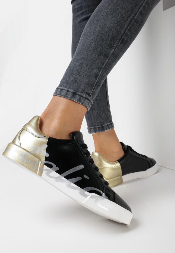 Czarno-Złote Buty Sportowe Girls Go Bad