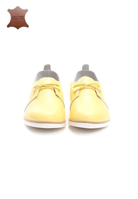Żółte Skórzane Półbuty Heaven's Arms