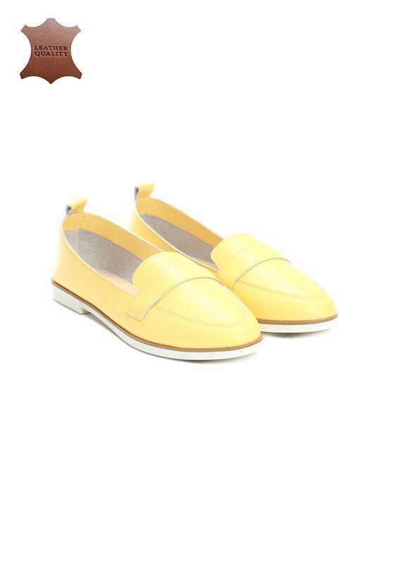 Żółte Skórzane Mokasyny Need You