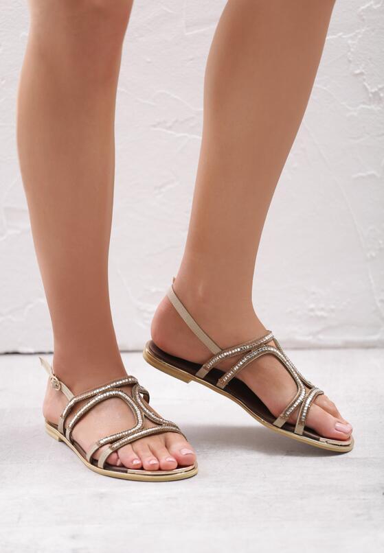 Beżowe Sandały Nettle