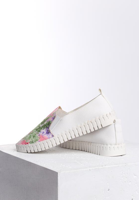 Biało-Różowe Slip On Graciousness