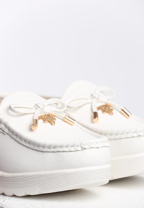 Białe Klapki Lady Bird