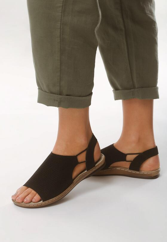 Czarne Sandały Jasper