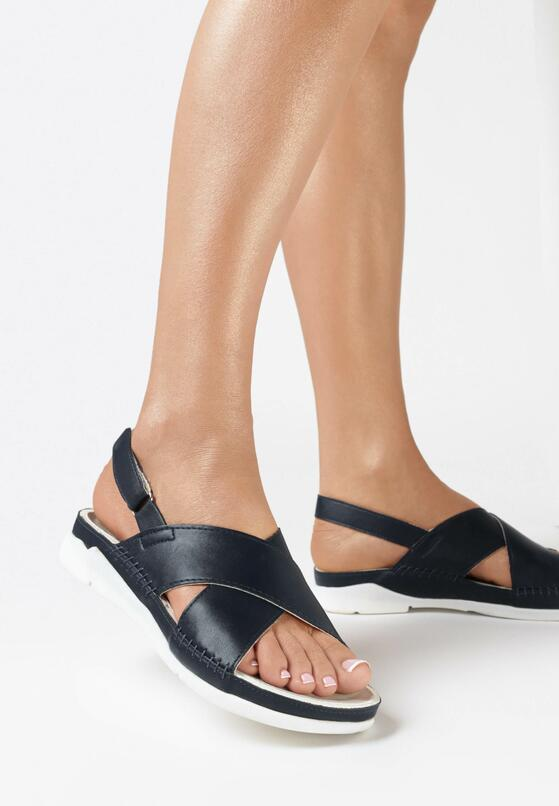Granatowe Sandały Walk Off