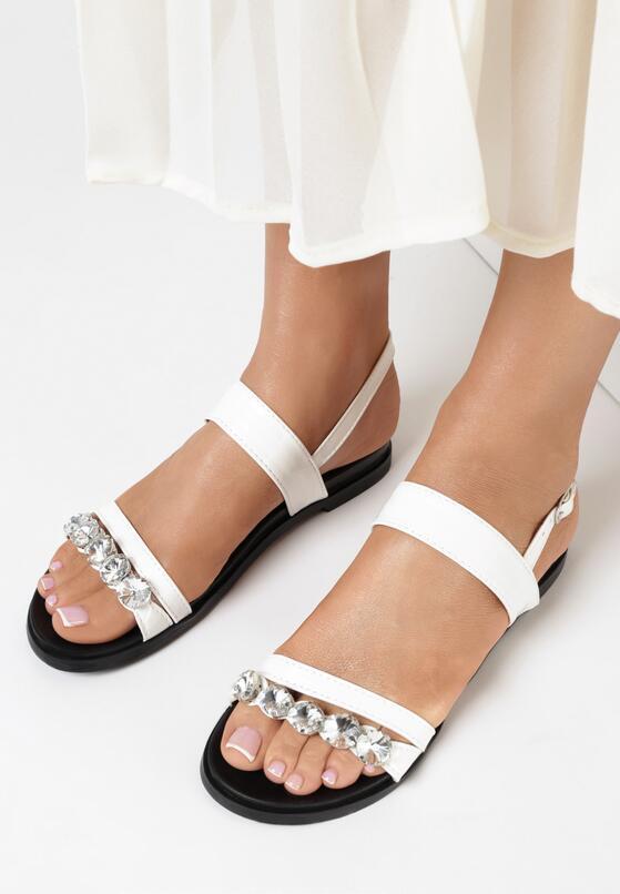Białe Sandały Let's Face It