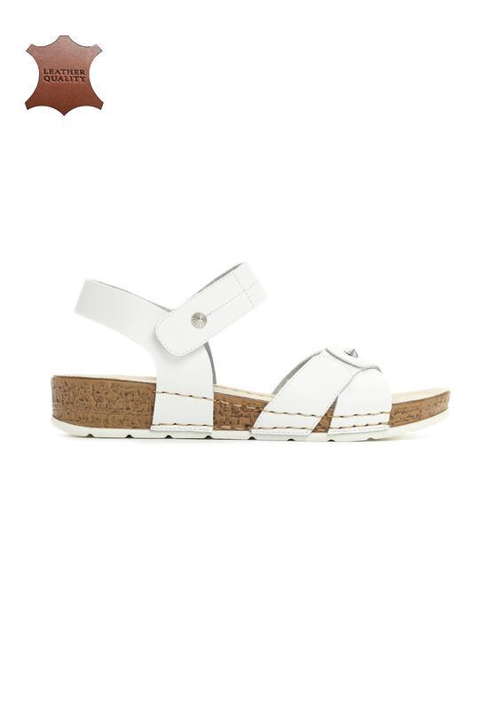 Białe Skórzane Sandały Behind The World