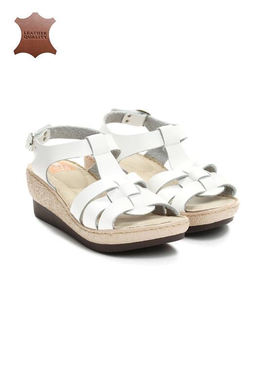Białe Skórzane Sandały Creature Comforts