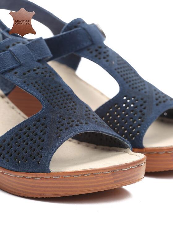 Niebieskie Skórzane Sandały Firevorks Factory