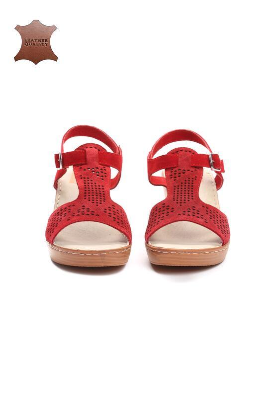 Czerwone Skórzane Sandały Firevorks Factory