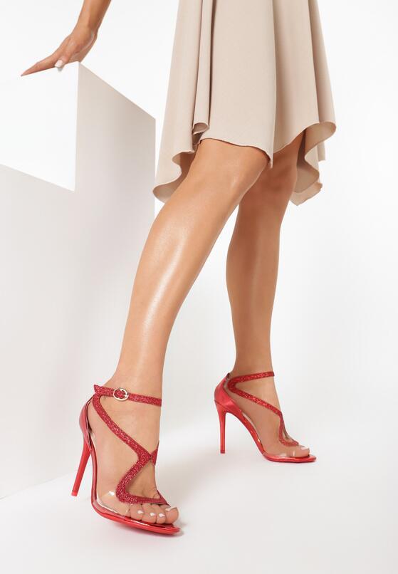 Czerwone Sandały Amaretto