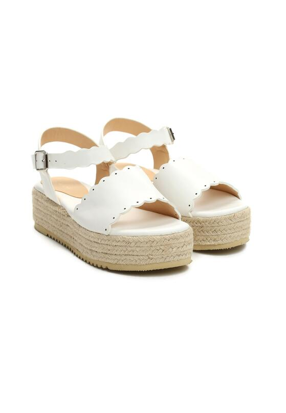 Białe Sandały Stolen Heart