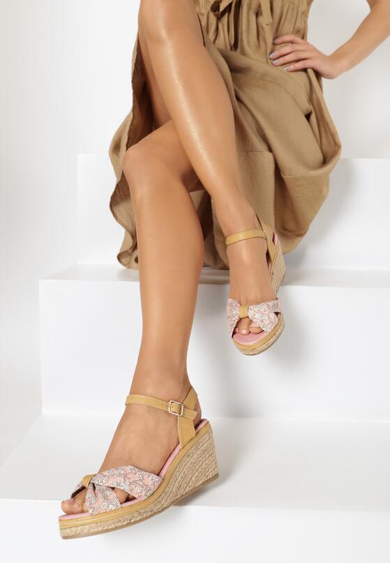 Różowe Sandały Creme Brulee