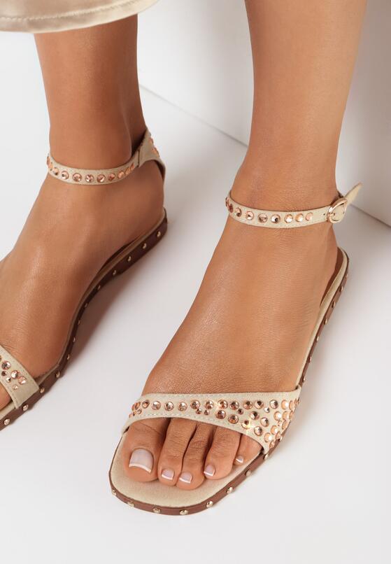 Beżowe Sandały Silver Dawn