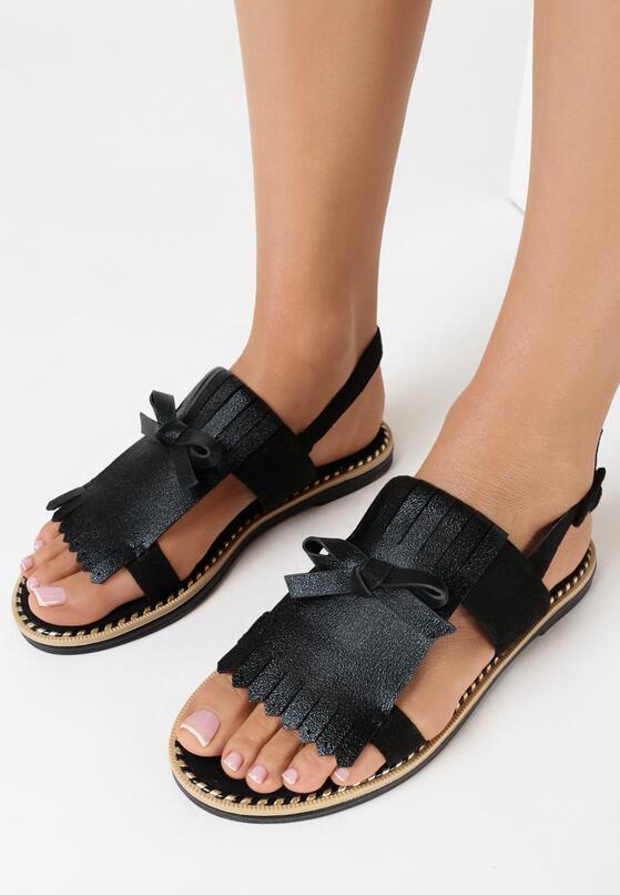 Czarne Sandały Cosmic Splash