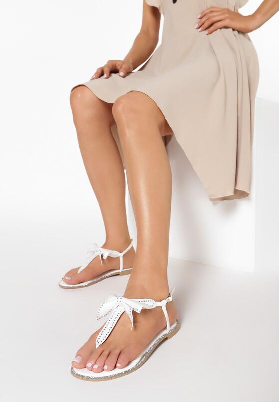 Białe Sandały Silent Tide
