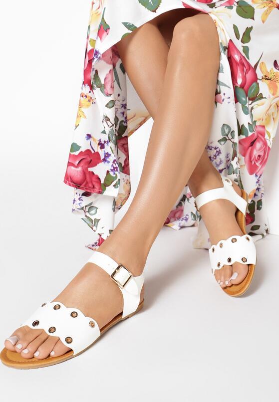 Białe Sandały Shame On You
