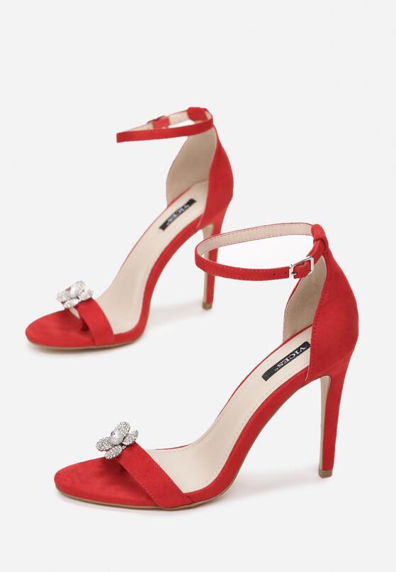 Czerwone Sandały Garden Party