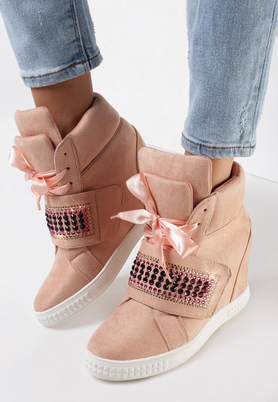 Różowe Sneakersy Stop Me Now